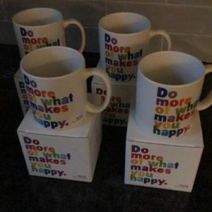 Lot of 4 Quotable mugs, all new in boxes.